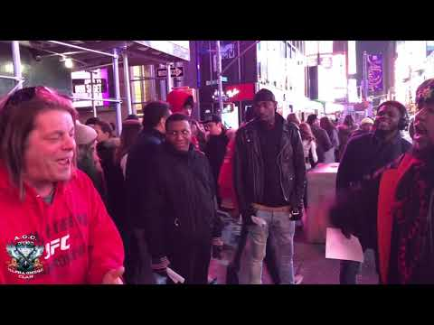 A.O.C. Israelites Danyaahla \u0026 Shar Sparing Not In Times Square, The Belly Of The Beast