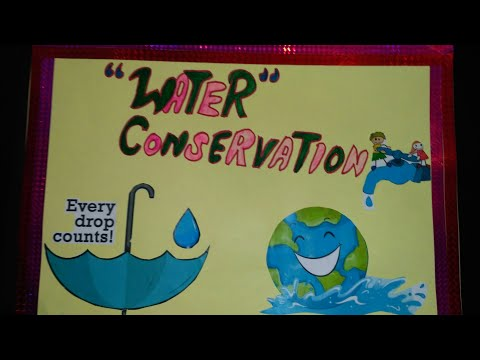How to make a easy water conservation chart