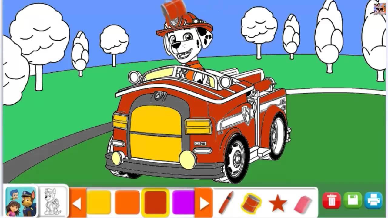 Kolorowanki Dla Dzieci Psi Patrol Dora Blaze I Megamaszyny Coloring