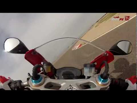 Ducati 1199 Panigale S onboard video at Racetrack Alcarraz HD-Version