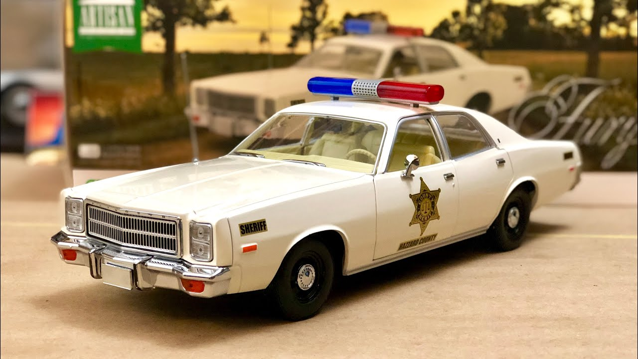 1//18 GREENLIGHT FURY HAZZARD POLICE ROSCO PATROL CAR 1977 PLYMOUTH