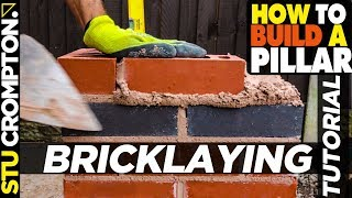 how to build a brick pier - bricklaying tutorial