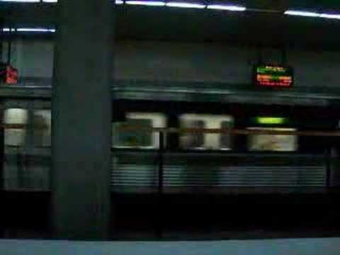 MARTA Train arriving at North Ave Station