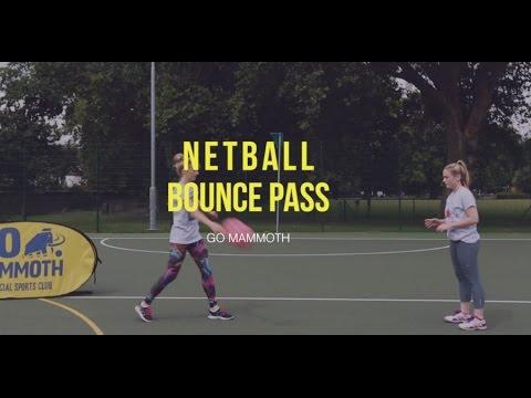 Go Mammoth Netball Training: Bounce Pass - YouTube