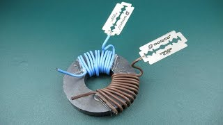 Amazing Blades Free Energy Generator Magnets Coil Real 100%, at Home New Technology 2018