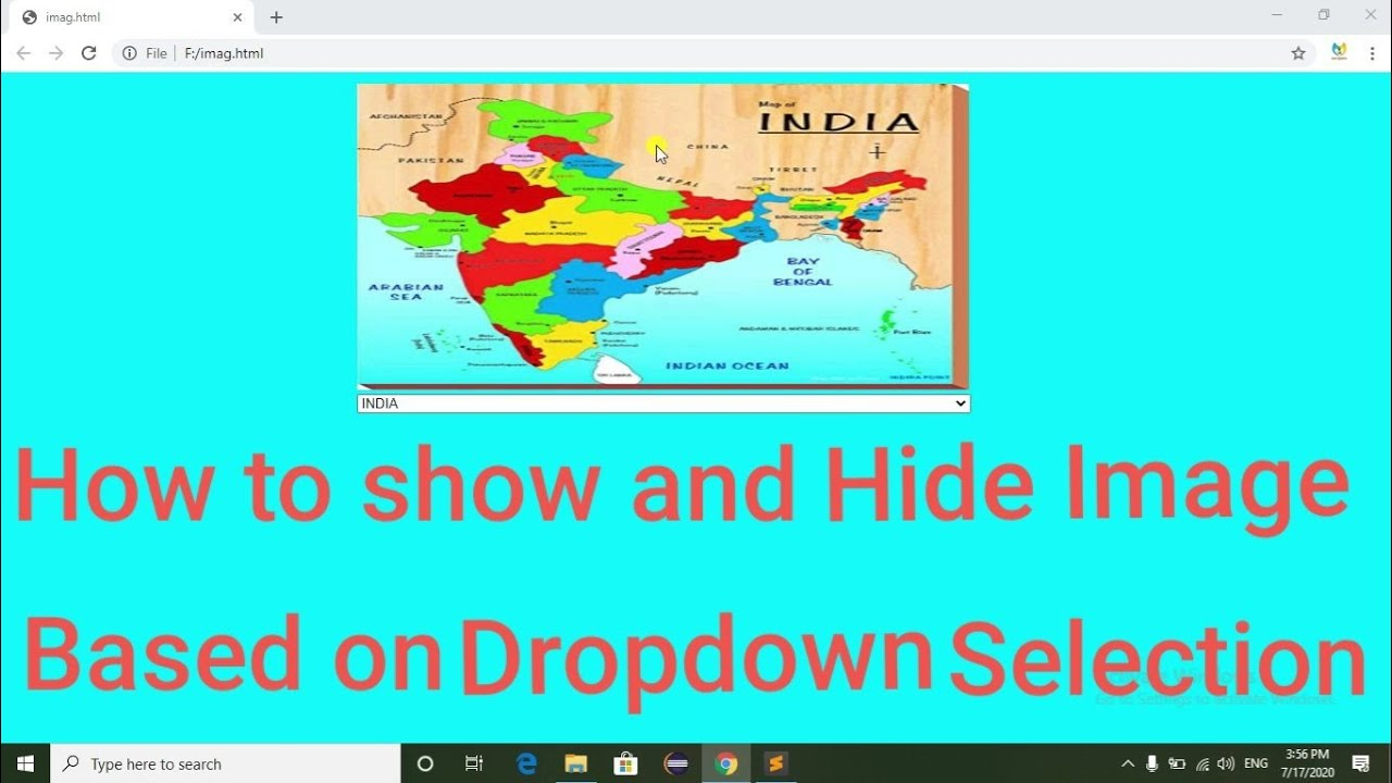 How to Show and Hide image based on dropdown selection