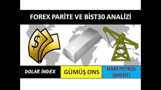 Detayli Dxy, Brent Petrol, GÜmÜŞ Ons, Bİst30 Ve Forex Parite Analizİ