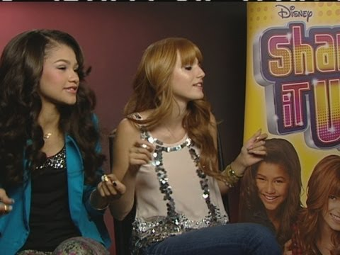 Bella Thorne And Zendaya From Shake It Up Teach Dance Moves