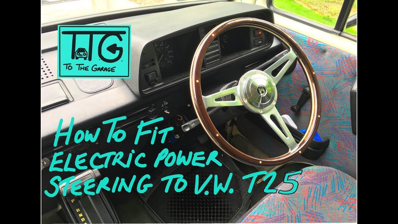 VW T25 T3 Vanagon Power steering conversion Pt 1