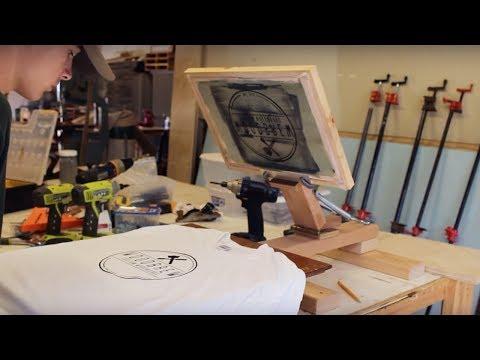 DIY Screen Printing Press | On A Budget | Woodbrew Workshop