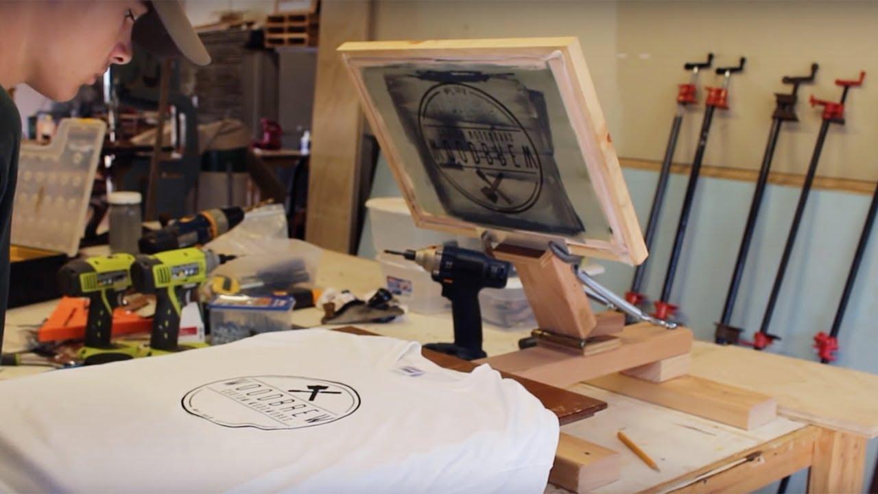 Diy Screen Printing Press On A Budget Woodbrew