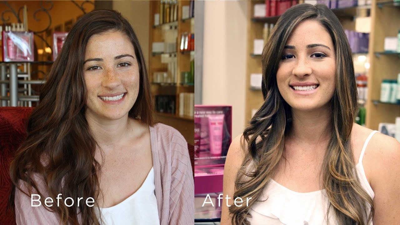 Ombre Haircolor And Natural Makeup Makeover By Rolfs Salon Youtube