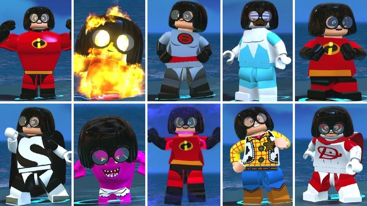 LEGO The Incredibles - All Characters in Edna Mode...Mode (Cheat)