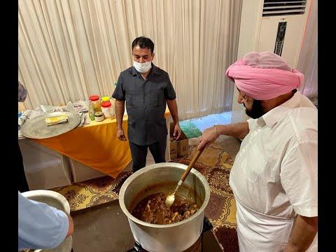 Punjab CM Captain Amarinder Singh dinner With Punjab's Olympic winners along with Neeraj Chopra.