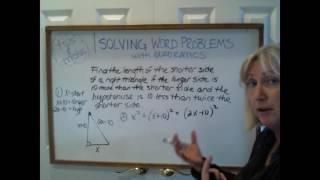 Tips & Tricks - Word Problems with Quadratics