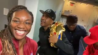 Claressa Shields Runs into King Gille Da Kid and Wallo on the way to sway in the morning Show.