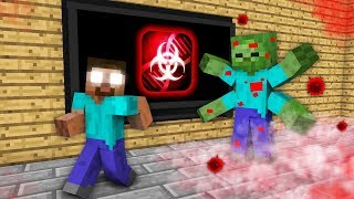 Monster School : PLAGUE INC ZOMBIE APOCALYPSE Challenge - Minecraft Animation