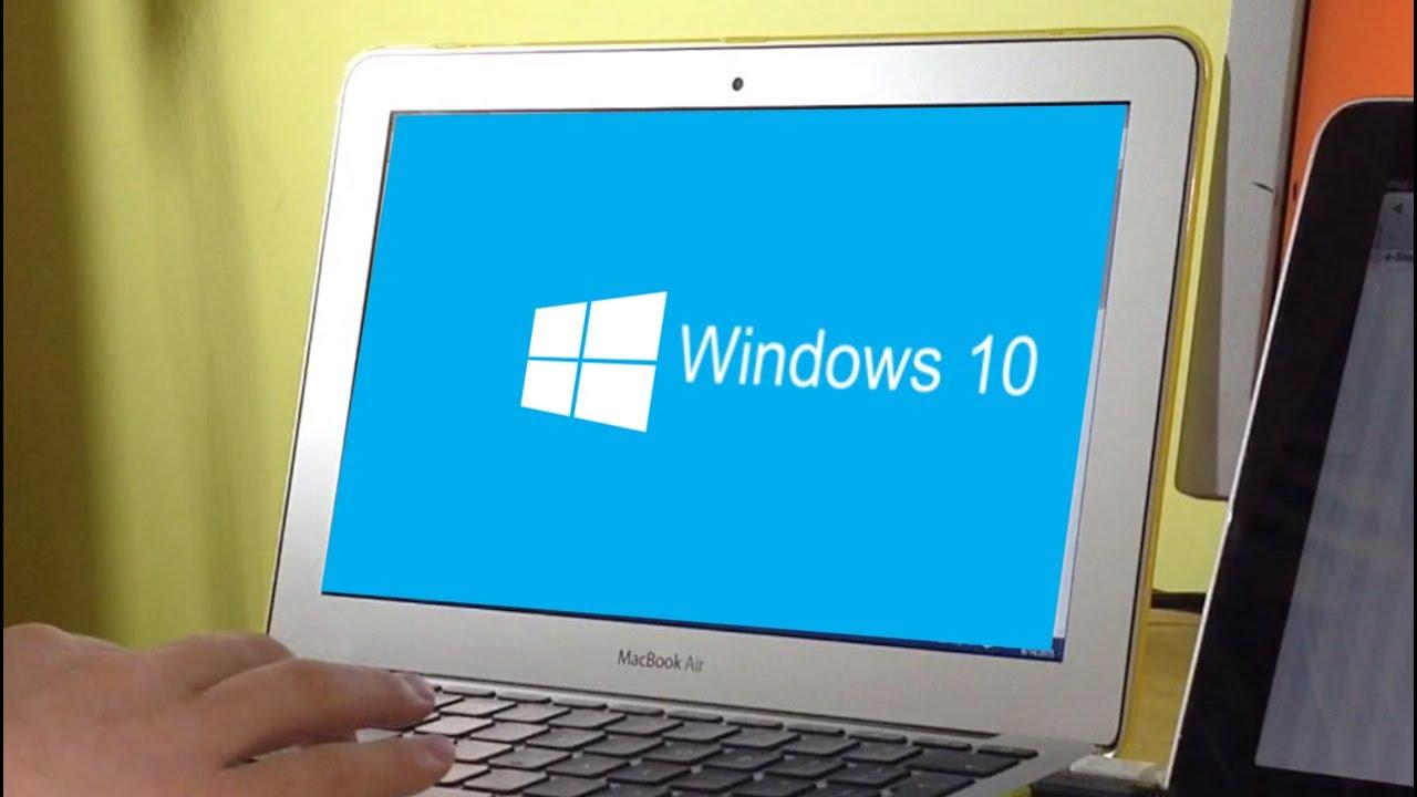 Windows 10 on MacBook Air - YouTube