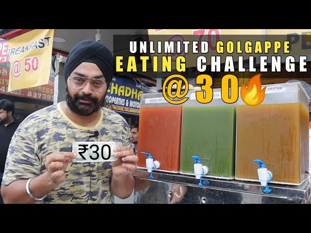 UNLIMITED Golgappe in Rs. 30 😮🔥 | Panipuri Eating Competition | Food Challenge