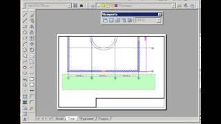 [ видео уроки Autocad] 44  Layout   Оформление на лист и печать