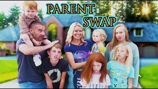 24 hours with NEW KIDS and EXCHANGE STUDENT! | Parent Swap with April and Davey!