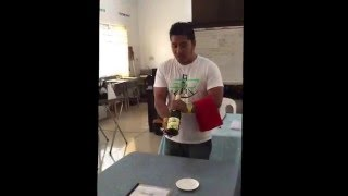 Opening a bottle of sparkling wine - BARTENDING NC2