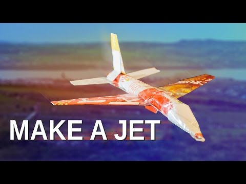 How to make a JET airplane out of a cereal box