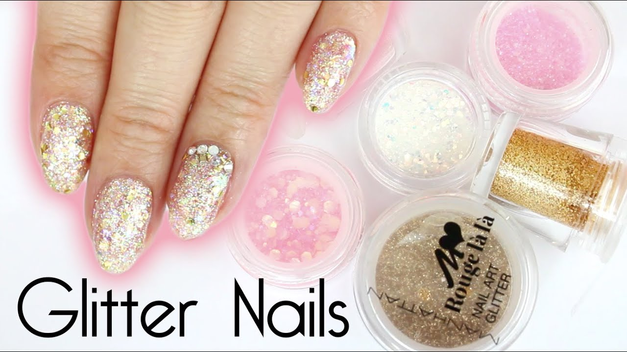 Make your own glitter mix gel nail art youtube prinsesfo Images
