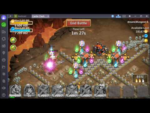 Castle Clash F2P Insane Dungeon 6-6