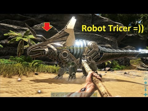 ARK: Survival Evolved (The Island) #2 - Có Cả Khủng Long Robot Triceratops