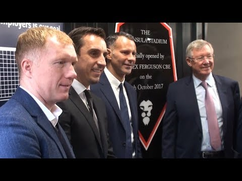 Sir Alex Ferguson Opens Newly Renamed Salford City Stadium & Interview With Paul Scholes