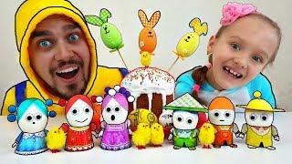 Aprende colores con coloridos huevos de Pascua | Divertido video con juguetes | Mi Mi Kids