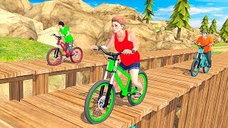 BMX Stunt Tricks Racing Master - Gameplay Android free games - BMX stunt racing games