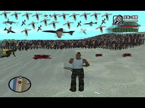 What Happens ( MILLION ZOMBIES ) Attack Gta San Andreas  Secret Cheat Code *Madd Carl* #RAJPOOTGAMER