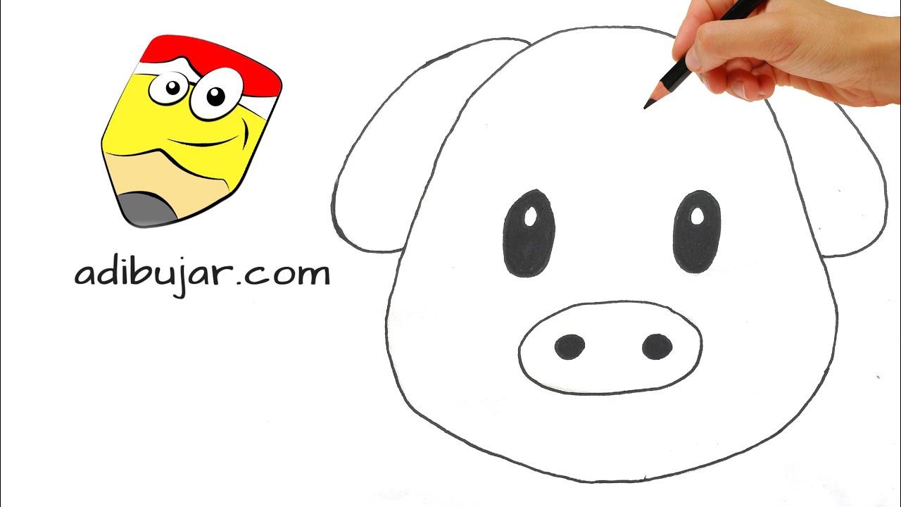 Emoticones Whatsapp: Como dibujar un emoji cerdo paso a paso - YouTube