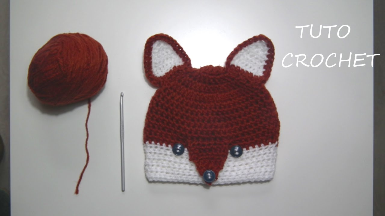 TUTO CROCHET Comment faire un Bonnet Renard 4 à 6 ans - YouTube aa398e7ed6f