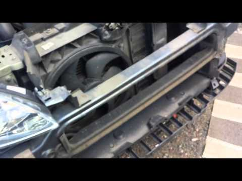 Peugeot 407 front bumper removal