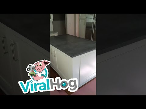 Secret Wine Cellar Under Kitchen Island    ViralHog