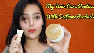 Hair Care Routine With Oriflame Products oriflame hair mask Oriflame hot oil by adhira