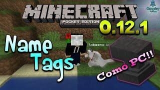 Minecraft Pe 0.12.1 Como poner nombres a tus Mascotas/Animales - Name tags Sin Mods