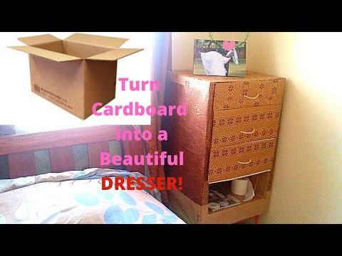 DIY Cardboard furniture/ Comment faire une armoire en carton /dresser/cabinet #DIYProject DIYDresser