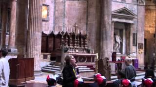 Пантеон. Рим(Пантеон внутри, технология строительства купола, могила Рафаэля, загадочные дырки., 2014-03-16T20:40:28.000Z)