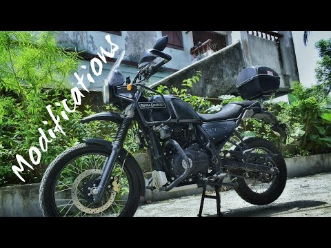 Modifications On Royal Enfield Himalayan || Royal Enfield Himalayan Touring Mods
