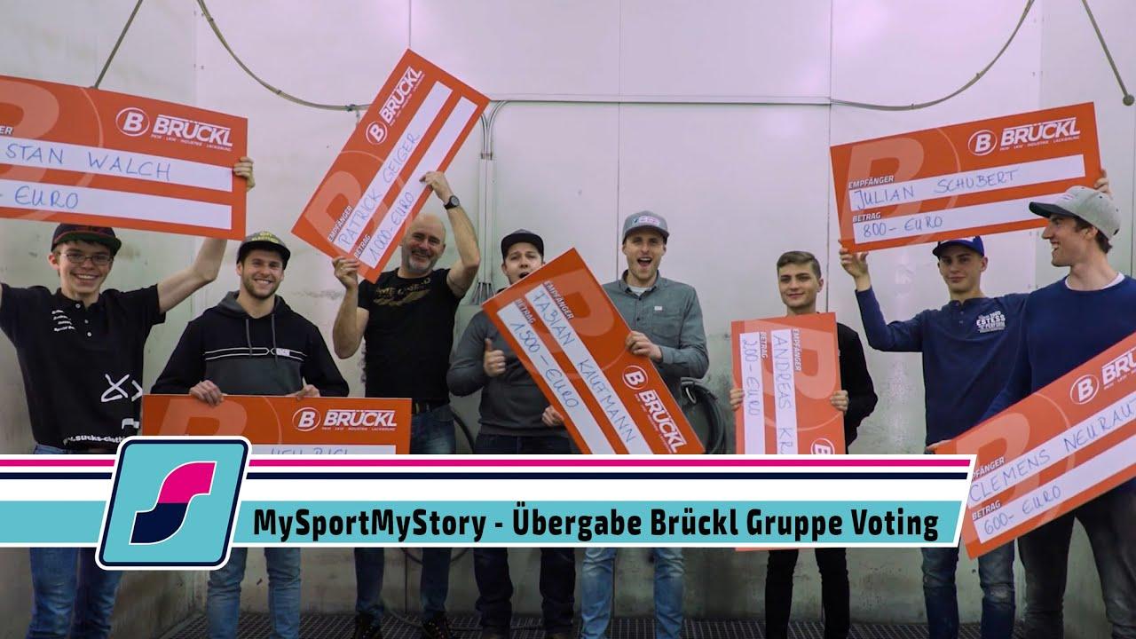 MySportMy Story Voting - Übergabe Brückl Gruppe Voting