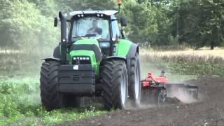 """QUIVOGNE Tinemaster 400/5 и трактор Deutz-Fahr Agrotron X-720. ООО """"Ландтехник"""". 2013г."""