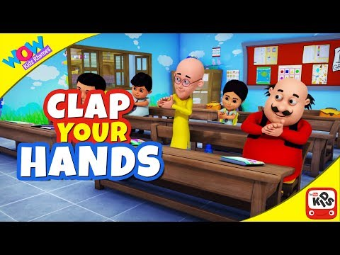 Clap Your Hands with MOTU PATLU- 3D Animation English Nursery rhyme for children with Lyrics