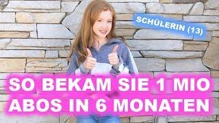 Schülerin (13) bekam 1 Mio. YouTube-Abos, weil sie...