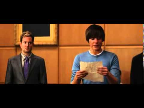 17 Again Very Touching Court Scene: A letter to Scarlet Zac Efron
