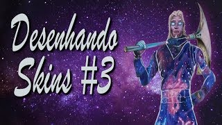 FORTNITE: Desenhando SKINS #3: GALAXY