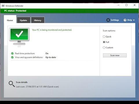Hướng Dẫn Diệt Virus Bằng Windows Defender Trong Windows 8 Windows 10 Youtube